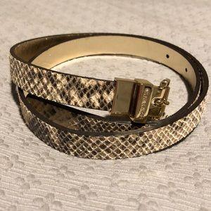 Michael Kors Snakeskin Belt